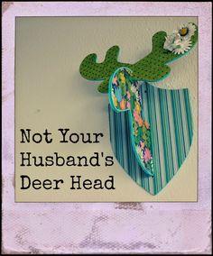 Mainly Maren: Shabby Chic Deer Head using Mod Podge