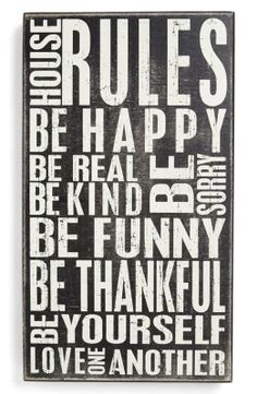 House Rules.