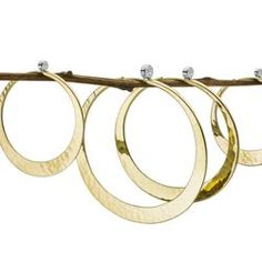 Toby Pomeroy Eco Gold and diamond hand-forged hoops. Bangles, Bracelets, Diamond, Gallery, Gold, Jewelry, Jewlery, Roof Rack, Jewerly