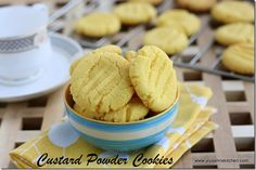 custard powder cookies! Eggless and butterless!