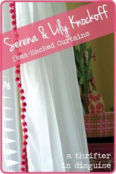 diy pompom Curtain Panels