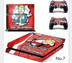 Fallout Game Retro Vintage PS4 Stickers