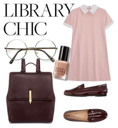 """Library Chic"" by luudrag ❤ liked on Polyvore featuring Bobbi Brown Cosmetics, Tod's and Karen Walker"