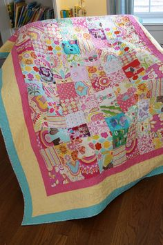 Girls Baby Clothes Quilt  Patchwork Style by Custom by MyBlankies