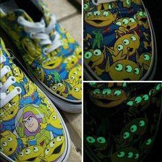 20b78b0f70 NIB! Vans Era Disney Toy Story Aliens Shoe-Glow In Dark-