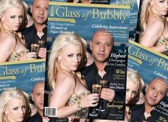 IGAL DAHAN and Jaimie Hilfiger wearing IGAL DAHAN Collection Jewelry on the cover of Glass of Bubbly Magazine