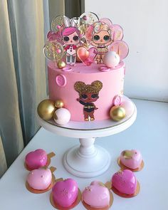 Birthday cake baby doll party ideas Ideas for 2019 Baby Cakes, Girly Cakes, Cute Cakes, Pretty Cakes, Cupcake Cakes, Beautiful Cakes, 20 Birthday Cake, Birtday Cake, Barbie Birthday