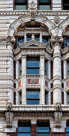 Window detail, St. James Building - 1898 Beaux Arts - Bruce Price, architect.