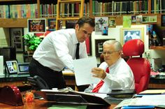 Pastor John Hagee & Pastor Matthew Hagee preparing for Sunday services. Watch them live every Sunday 8:30AM, 11:00AM & 6:30PM CST online at www.getv.org!