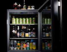 In addition to being unapologetically awesome, beer fridges allow collectors to regulate the temperature at which beer is stored and served.