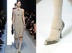 Bottega Veneta AW2012 details socks with shoes