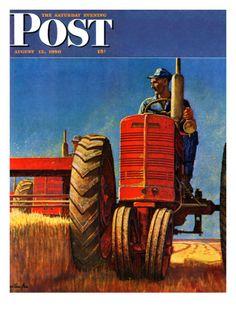 Wheat Harvest, August 12, 1950, by Mead Schaeffer