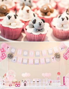 Pink Puppy Dog Party by Camila of Personatta, via Hostess with the Mostess