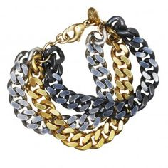 simple yet FUNKY! 3 chain bracelet , Sophie by Sophie
