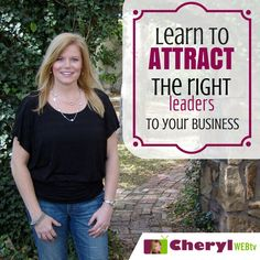 When you start a home based business, remember it is all about relationship building not the sale. Get tips on how to attract the right leaders from my blog.