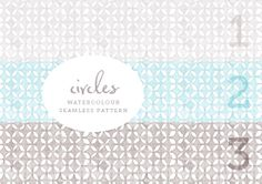 Geometric watercolour patterns  - free  from August Empress