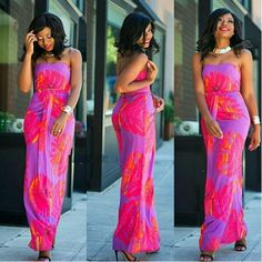 75f21fb5b8e Fashionable Flower Print Strapless Top With Long Skirt 2 Pieces Maxi Dress  Printed Skirts
