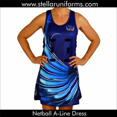 Netball A-Line Dress. Netball Dresses, Athletic Tank Tops, Exercise, Sport, Outfits, Women, Fashion, Ejercicio, Moda