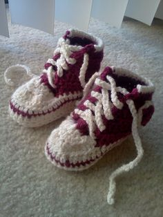 Toddler (Converse) Booties Crochet Pattern