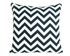 Black and White Chevron  Decorative Pillows by PillowThrowDecor