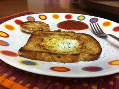 Egg in a basket #food #yummy