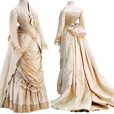 Ensemble, by the House of Worth, ca. 1875. Museo de la Moda