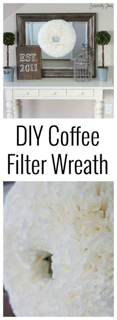 DIY Coffee Filter Wreath simple easy cute spring craft DIY
