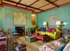 Montecito Home - Living Room. Architectural Design: Tom Meaney. Built by Giffin & Crane. Photo by Jim Bartsch.
