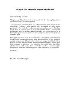 College Admission Recommendation Letter | Sample Letter of ...