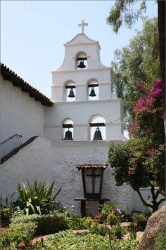 Bell Tower at San Diego Mission, San Diego Mission Garden, San Diego, CA