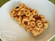 Honey Nut Cereal Bars recipe- Once a Month Meals