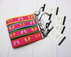 Flip Flop Keychain - Summer Key Chain - Beach Keychain - Lanyard for Keys - Wrist Lanyard - Wristlet for Keys - Wrist Key Holder by TalfourdJones on Etsy