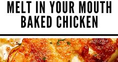 Melt in Your Mouth Chicken Full of flavor, moist, tender melt in your mouth chicken and best of all, simple to make! Ingredients ... Crispy Baked Chicken, Baked Chicken Wings, Baked Chicken Breast, High Protein Recipes, Protein Foods, Cauliflower Tots, 9x13 Baking Dish, Melt In Your Mouth, Foods To Eat