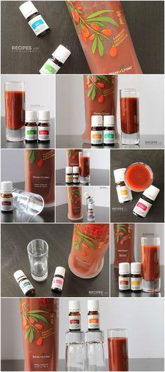 10 NingXia Red Shots Recipes Using Vitality Essential Oils from RecipeswithEssentialOils.com