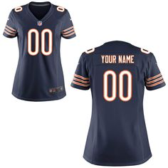Chicago Bears Nike Women's Custom Game Jersey – Navy Blue - $149.99