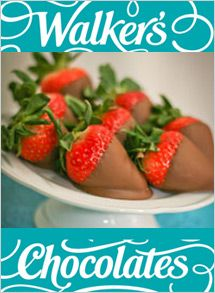 Walker's Chocolates Advanced orders available for pick-up February & Limited quantities in store. Chocolate Covered Strawberries, Chocolates, Valentines Day, Strawberry, Fruit, Ethnic Recipes, February, Store, Food