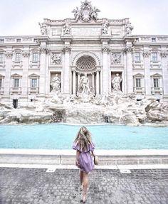 Trevi Fountain, Rome, Italy  |  pinterest: @Blancazh