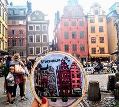 Bordado de la plaza mayor de Estocolmo
