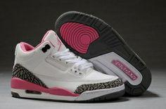 new arrivals 3c119 511d5 Air Jordan Women Shoes Women Air Jordan 3 Retro White Pink Cement Grey   Women s Air Jordan 3 - This Women Air Jordan 3 Retro White Pink Cement  Grey features ...
