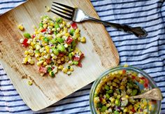 roasted corn & edamame succotash. will be making this weekend.