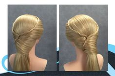 Staart met visgraat vlechten, pony tail with fishtail braids