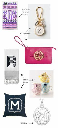 Monograms- love that phone case!