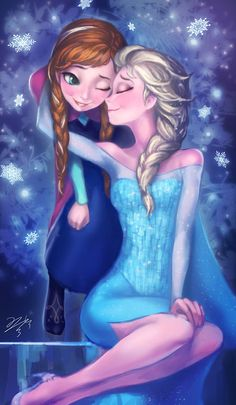 Frozen - Queen Elsa x Princess Anna - Elsanna Frozen Disney, Walt Disney, Anna Frozen, Anna Y Elsa, Frozen Love, Disney Magic, Frozen Queen, Frozen 2013, Disney E Dreamworks