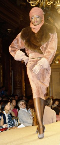 1984-85 - Yves Saint Laurent Couture show - by Anne Marie Bohme