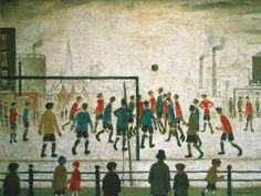 The Football Match by L S Lowry. Massive range of art prints, posters & canvases. Quality UK framing & Money Back Guarantee! Edward Hopper, Mondrian, Klimt, Picasso, Soccer Art, Soccer Poster, Spencer, Football Match, Football Stuff