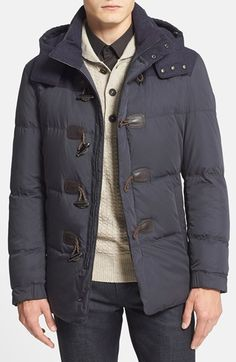 BOSS HUGO BOSS 'Darcon Doen' Mixed Media Quilted Jacket available at #Nordstrom