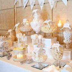 White Wedding Candy Bar