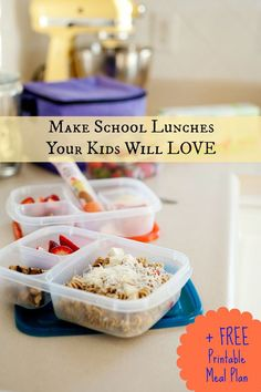 """Tips For Transitioning Kids """"Back to School"""" +  School Lunches Your Kids Will Love!"""