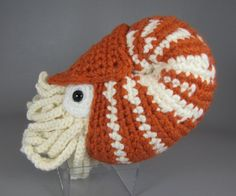 Chambered Nautilus PDF amigurumi crochet pattern by edafedd