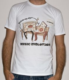 Planet Ex NEW Music Evolution back in my days by PlanetExTshirts